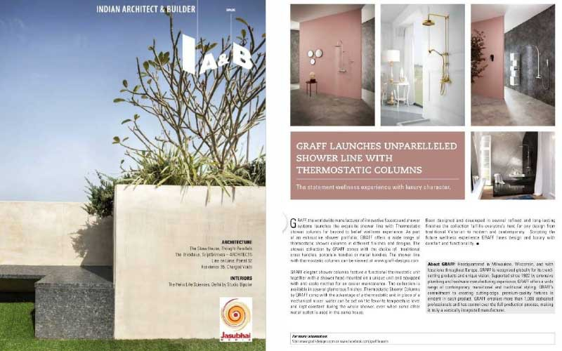 GRAFF's Thermostatic Shower System | Indian Architect & Builder Magazine
