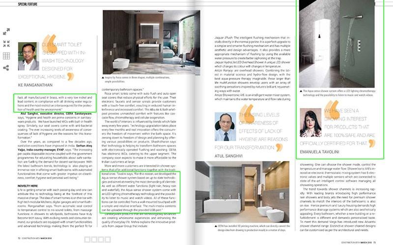 GRAFFu0027s Aqua Sense Shower System L Construction Week Magazine
