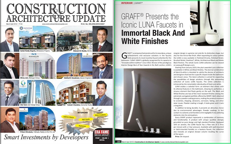 GRAFF's Luna Available in New Finishes l Construction & Architecture Update