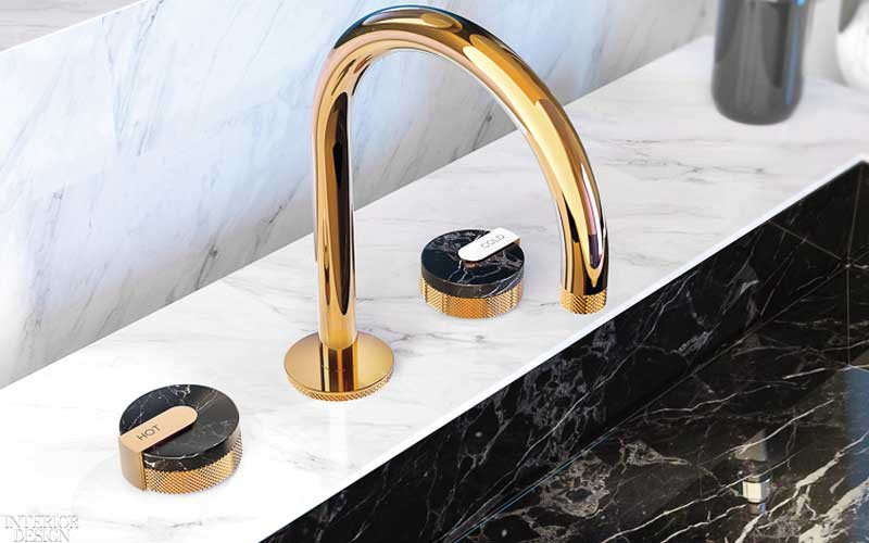 GRAFF's Mod+ Widespread Lavatory Faucet l Interior Design