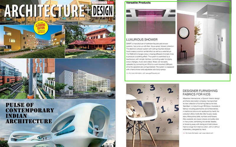 GRAFF Aqua Sense Shower Collection L Architecture + Design
