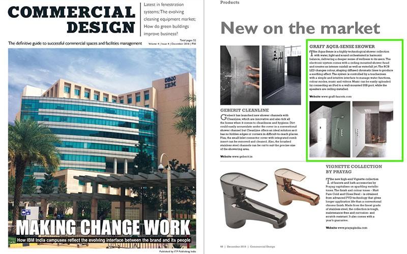 GRAFF Aqua Sense Shower L Commercial Design