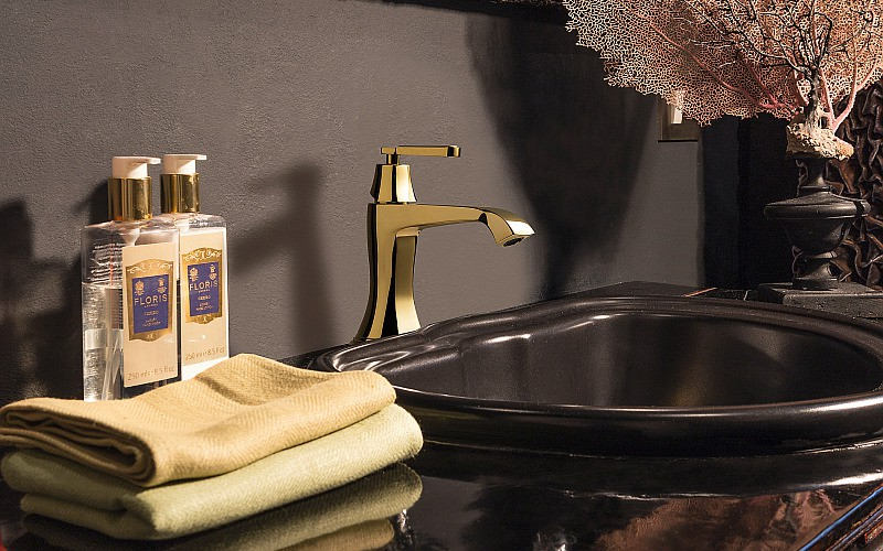Finezza washbasin mixer_Gold