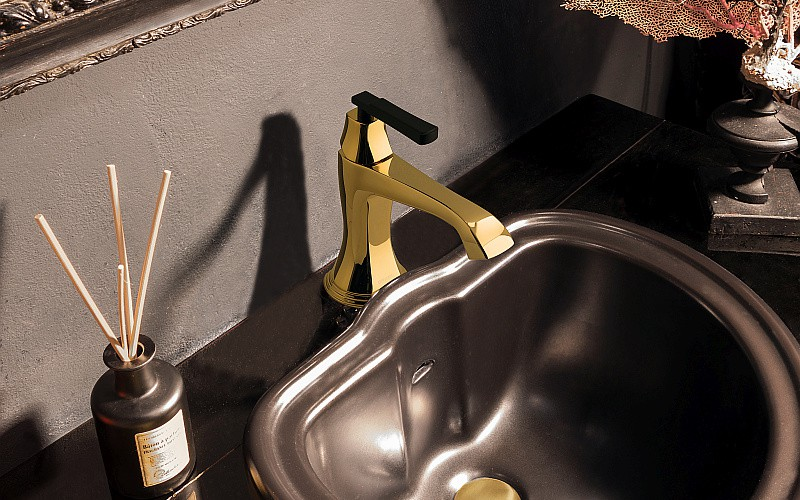 Finezza washbasin mixer _Gold