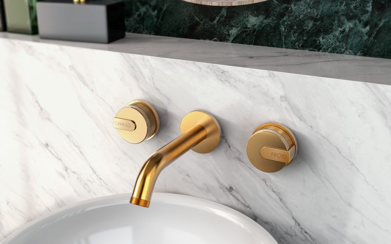 MOD+ wall-mtd basin mixer_brushed gold