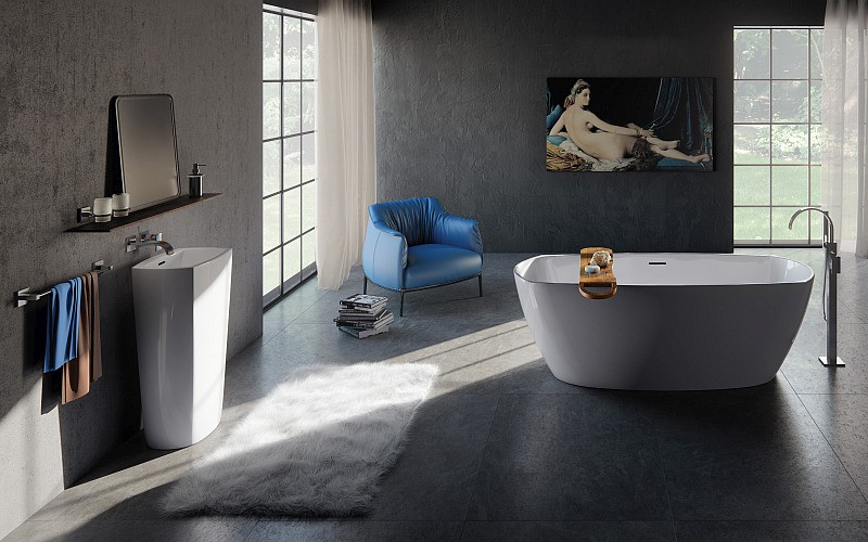 TEPHI bathtub and washbasin