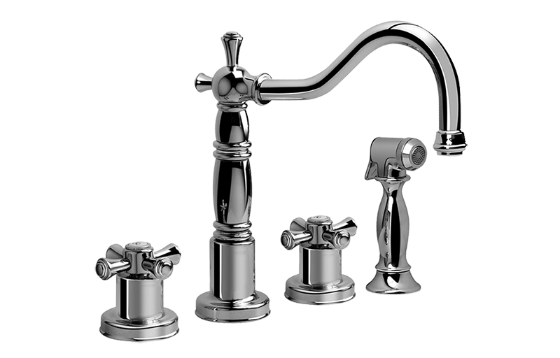 TUSCANY- 3 hole Kitchen Faucet with side spray :: Kitchen ...
