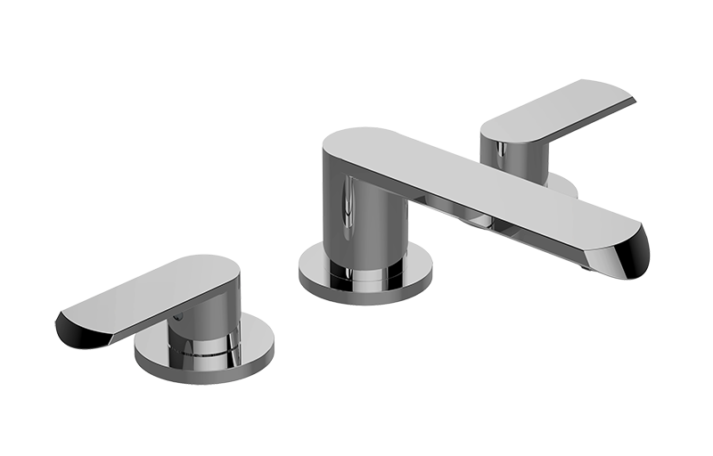 7 Faucet Finishes For Fabulous Bathrooms: Phase Widespread Lavatory Faucet :: Bathroom :: GRAFF