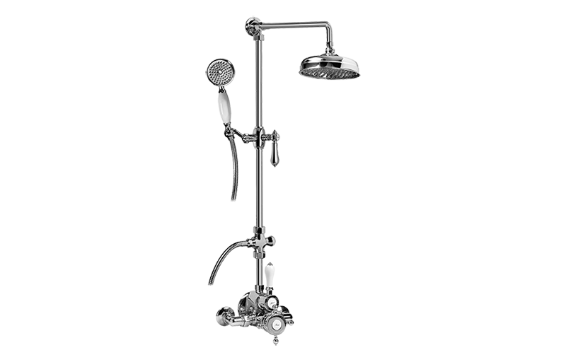 Exposed Thermostatic Shower System W Handshower Rough Trim additionally Product further 182424005619 together with Symmons Identity Tub Shower Systems likewise 999936100. on polished nickel showerhead arm