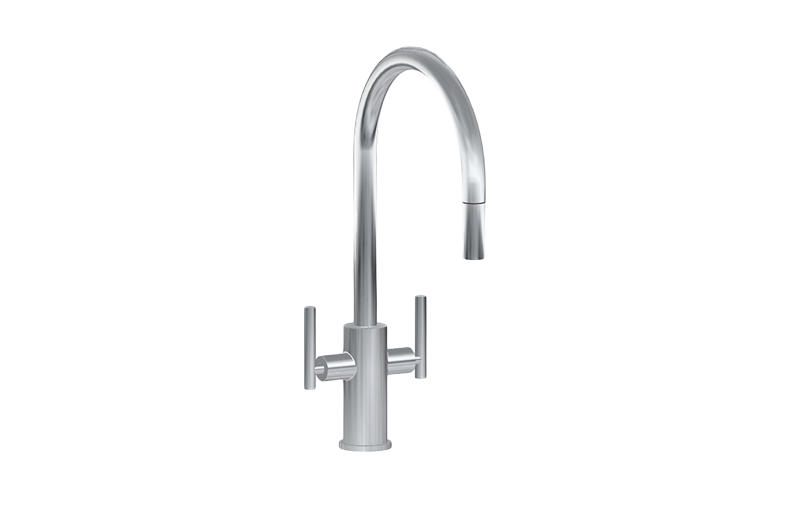 Merveilleux Sospiro Contemporary Two Handle Single Hole Kitchen Faucet