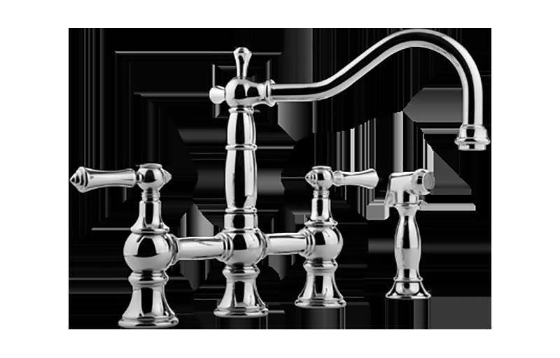 Canterbury Bridge Kitchen Faucet w/ Side Spray :: Kitchen