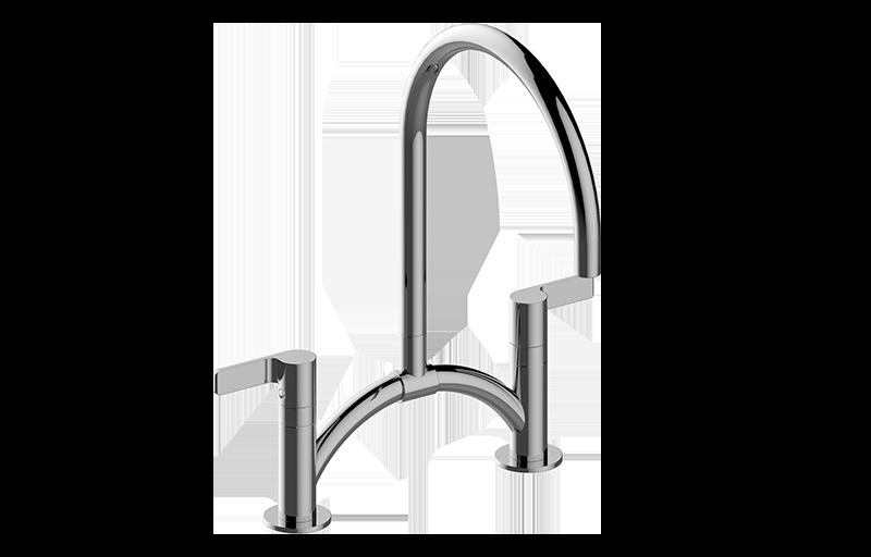 Terra Contemporary Bridge Kitchen Faucet :: Kitchen :: GRAFF