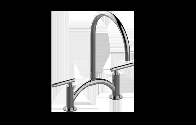 sospiro contemporary bridge kitchen faucet    kitchen    graff