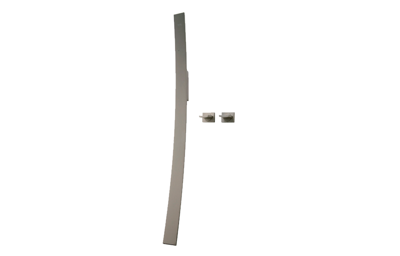 Luna Wall-Mounted Tub Filler w/Wall-Mounted Handles