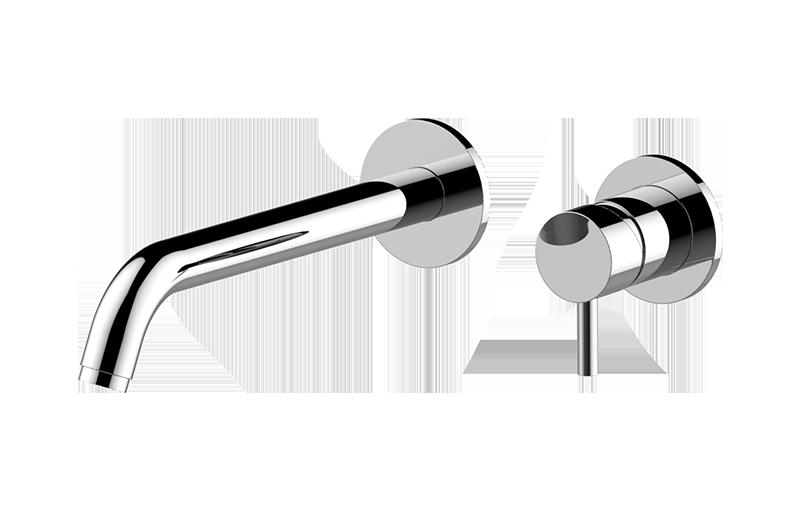 M E Wall Mounted Lavatory Faucet W Single Handle