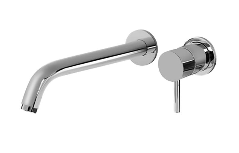 parlington wallmount tub faucet with cross handles and hand