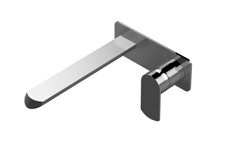 """Bathroom Faucet Filter phase wall-mounted lavatory faucet (9 1/4"""" spout) - rough and trim"""