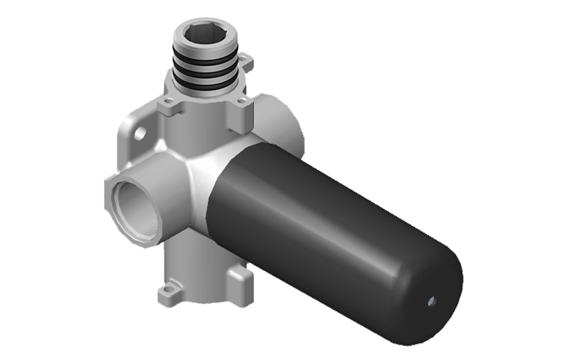 Two Way Diverter Volume Control Valve WITH Off Function And Pass Through ::  Shower :: GRAFF