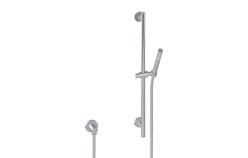 Contemporary Handshower W/Wall Mounted Slide Bar