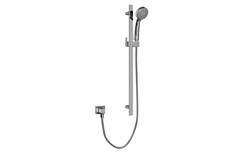 Contemporary Handshower W Wall Mounted Slide Bar