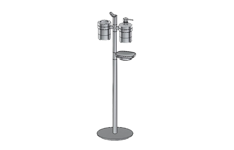 Free Standing Holder For Tumbler Soap Dispenser Dish Bathroom Graff
