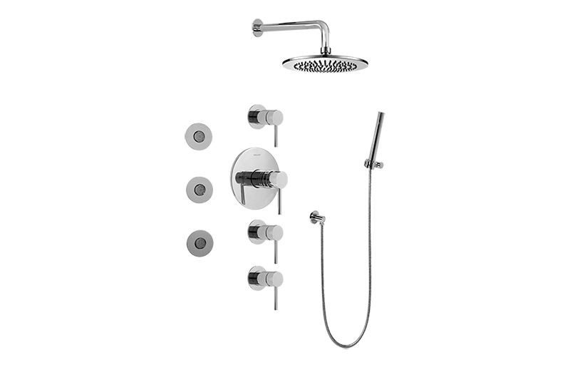 Full Thermostatic Shower System Rough Amp Trim Bathroom