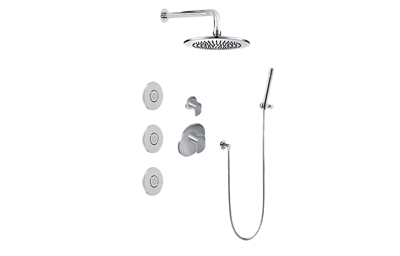 M-Series Full Thermostatic Shower System with Diverter Valve ...