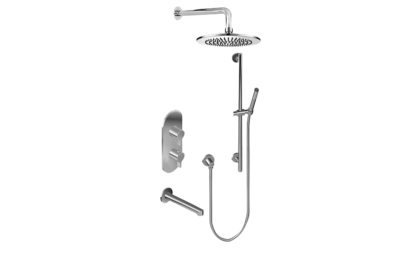 M Series Full Thermostatic Shower System With Diverter