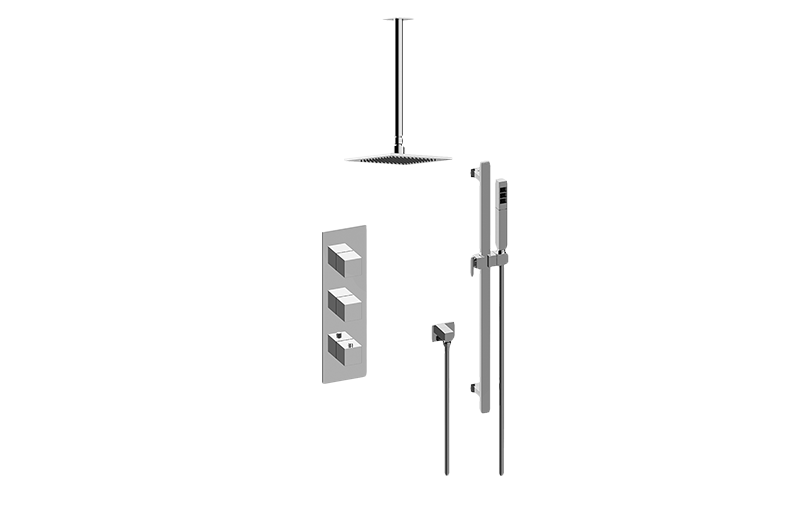 Incanto M-Series Thermostatic Shower System - Shower with Handshower