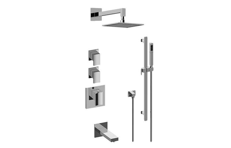 Sade M-Series Thermostatic Shower System - Tub and Shower with Handshower
