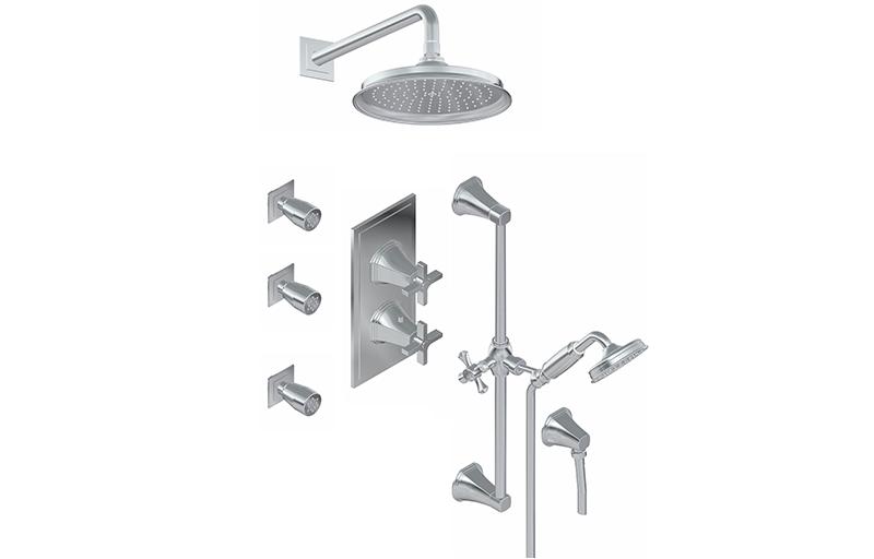 m series full thermostatic shower system with diverter valve rough tri. Black Bedroom Furniture Sets. Home Design Ideas