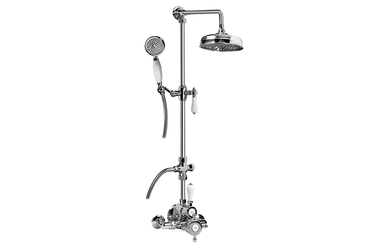 Exposed Thermostatic Shower System w/Handshower (Rough & Trim ...