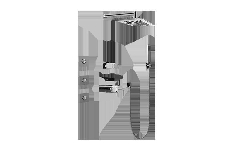 full thermostatic shower system with transfer valve rough trim sho. Black Bedroom Furniture Sets. Home Design Ideas