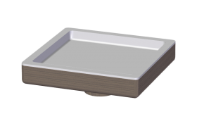 Storage Tray in Solid Wood and Corian®