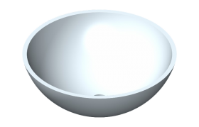 Round washbasin in Corian®