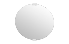 Round Mirror With Wood Brackets