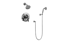 Topaz Pressure Balancing Shower System - Shower with Handshower