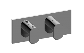 Square Horizontal M-Series Valve Trim with Two Handles
