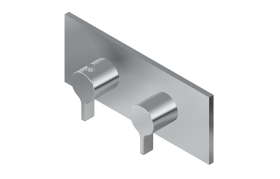 Square M-Series Valve Trim with Two Handles