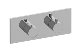 Square M-Series Horizontal Valve Trim with Two Handles