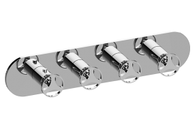 Harley M-Series Valve Horizontal Trim with Four Handles