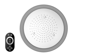 Round Ceiling-Mounted Showerhead with LED