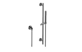 Contemporary Handshower with Wall-Mounted Slide Bar