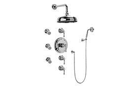 Canterbury Thermostatic Set w/Body Sprays & Handshower (Rough & Trim)
