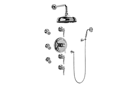 Bali Thermostatic Set w/Body Sprays & Handshower (Rough & Trim)