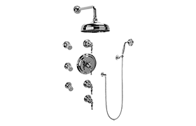 Lauren Thermostatic Set w/Body Sprays & Handshower (Rough & Trim)