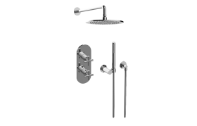 Terra M-Series Thermostatic Shower System - Shower with Handshower