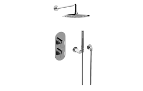 Sento M-Series Thermostatic Shower System - Shower with Handshower