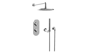 M.E. 25 M-Series Thermostatic Shower System - Shower with Handshower
