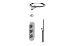 M-Series Thermostatic Shower System - Ametis Ring with Handshower